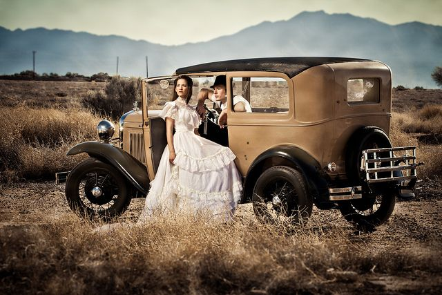 Bonnie and Clyde Themed Wedding, Jerry Ferguson Photography