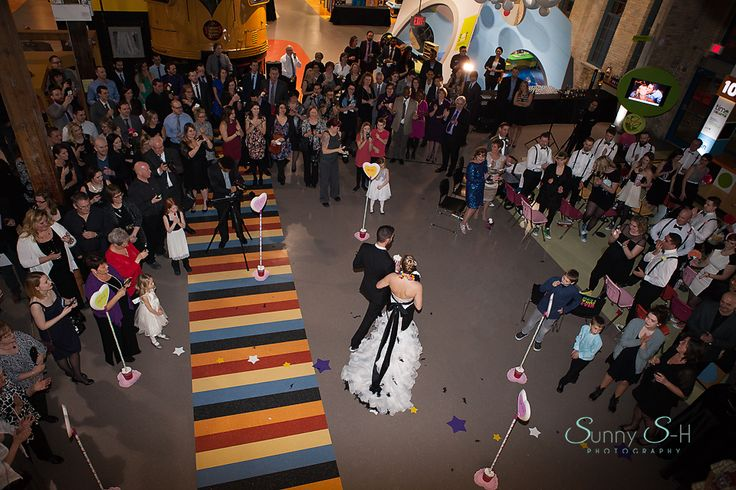 Manitoba Children's Museum.  Not your typical location for your ceremony and reception.  Perfect for those offbeat couples.