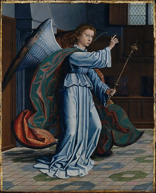 The Annunciation by Gerard David (Netherlandish, Oudewater ca. 1455-1523 Bruges) c. 1506, oil on wood.