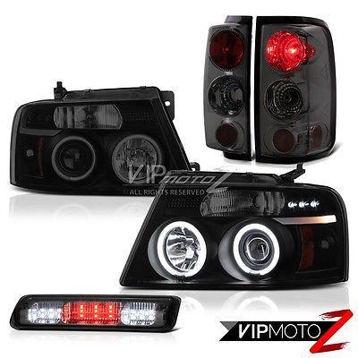 04-08 Ford F150 STX Roof Brake Lamp Smoke Tinted Headlamps Rear Lights Euro Cool