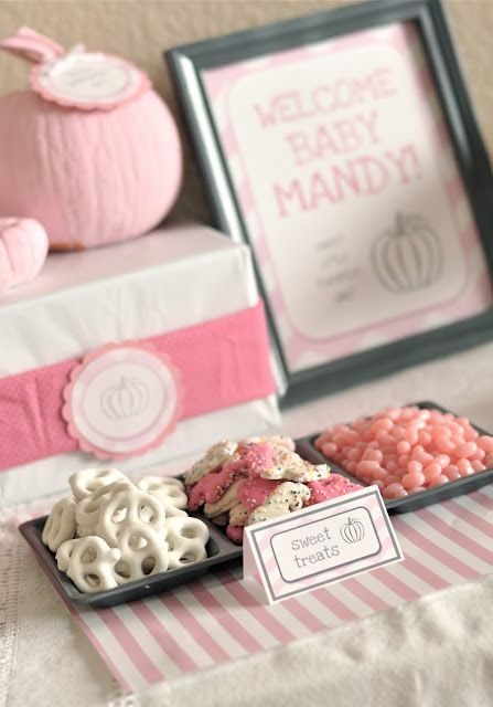 Little Girl Pumpkin Baby Shower Party Ideas Baby Shower