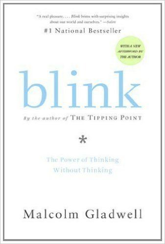 """Blink book on Amazon - """"Blink: The Power of Thinking Without Thinking"""" by Malcolm Gladwell breaks down the art of decision-making in an instant, how our brains work in different environments and how some people seem to have good instincts, while others don't. http://www.amazon.com/gp/product/0316010669/ref=as_li_tl?ie=UTF8&camp=1789&creative=9325&creativeASIN=0316010669&linkCode=as2&tag=selmadsuc0c-20&linkId=BK6AUWQA3FQ2VGM7"""