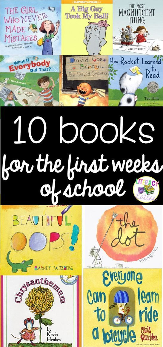 10 books for the first week of school! A great roundup of books for teachers to easy children back into the school routine!