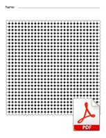 Big Square Blank Perler Bead Template