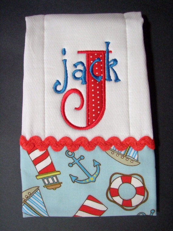 Nautical Burp  amp  Applique Burp Baby cloths Set Baby by on Etsy  Beach online Cloth Burp low Bib Cloth price Beach Monogrammed Bi    and   Set   shopping Babies  BlumersEmbroidery