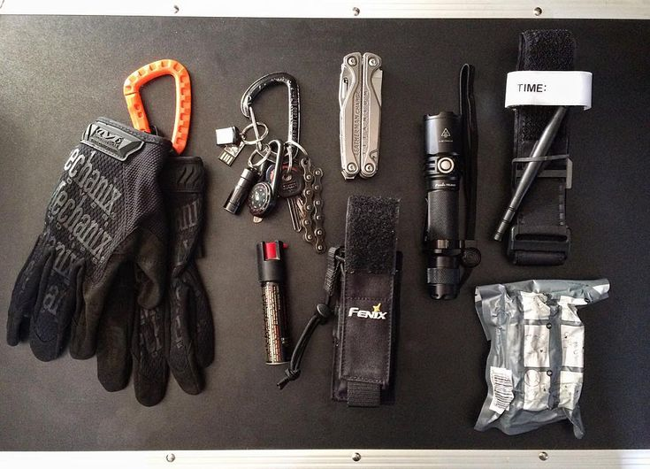 I'm a Graphic Designer and I work in a Outdoor store in Chile, These are some of the most important items that I carry in my backpack and pants, I carry 2 pair of nitrile gloves too, just be ready to be a first responder.