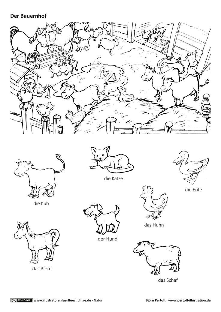 Download als PDF: Natur – Bauernhof Haustiere Nutztiere Tiere – Pertoft