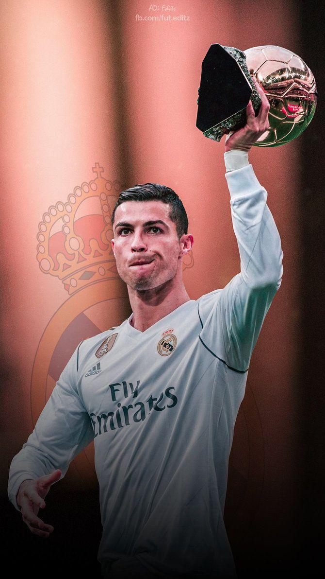 Cristiano Ronaldo Ballon Dor Realmadrid Football