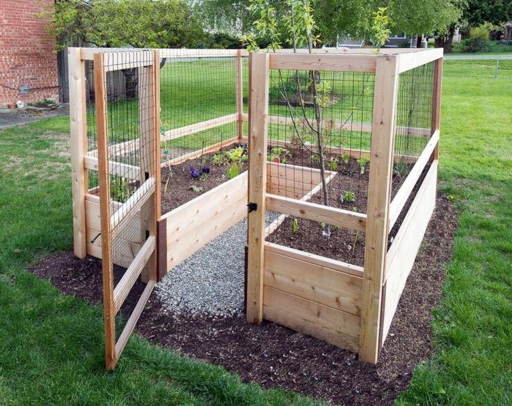 Raised Garden Bed Kit Planter 8' x 8' Fence Gate Hardware ...