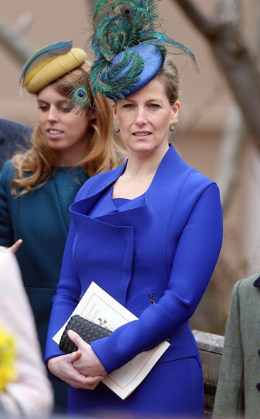 Sophie, Countess of Wessex attends the Easter Day service at St George's Chapel in the grounds of Windsor Castle on March 31, 2013 in Windsor, England.