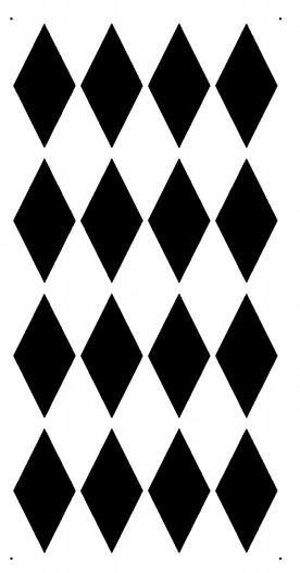 STENCIL for Walls - HARLEQUIN Diamond Pattern - Wall Stencil - Reusable, DIY…