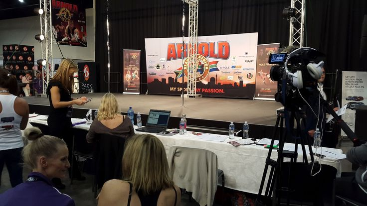 The stage is set for #XPole at The Arnold Classic Africa 2016 #poleatthearnold #PCS2016 #ACA2016 #inpoleposition