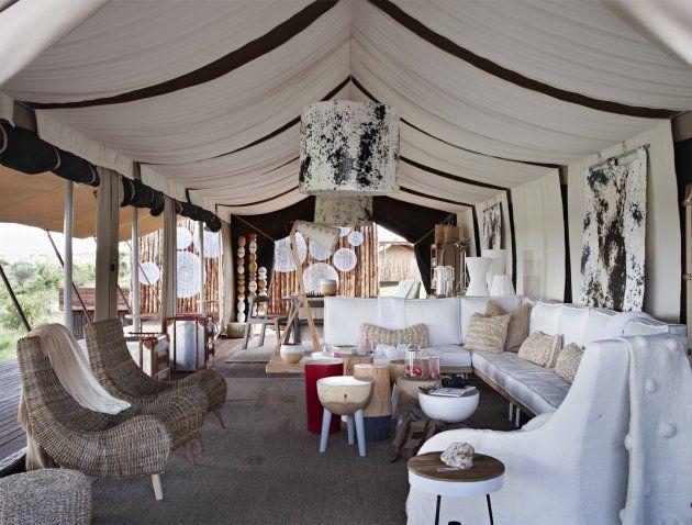Singita Mara River Tented Camp lounge areas