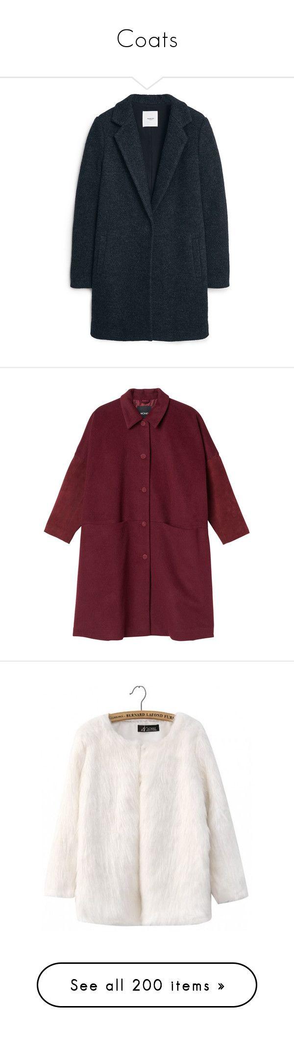 """Coats"" by hetasdfghjkl ❤ liked on Polyvore featuring outerwear, coats, jackets, coats & jackets, mango coats, blue coat, fur-lined coats, blue wool coats, long sleeve coat and tops"