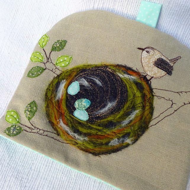 Linen Wren's Nest Tea Cosy