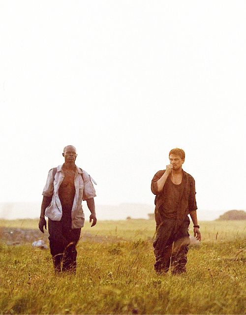 Djimon Hounsou & Leonardo DiCaprio in Blood Diamond (2006) by Edward Zwick.