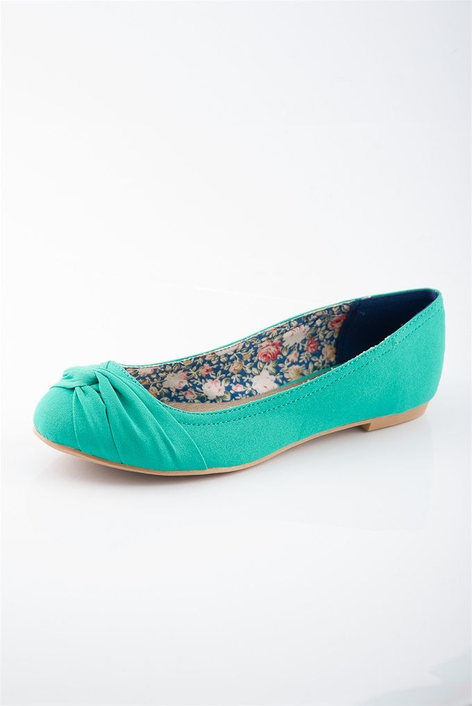 Twist Tie Ballet Flats - Green from Sunday Afternoon