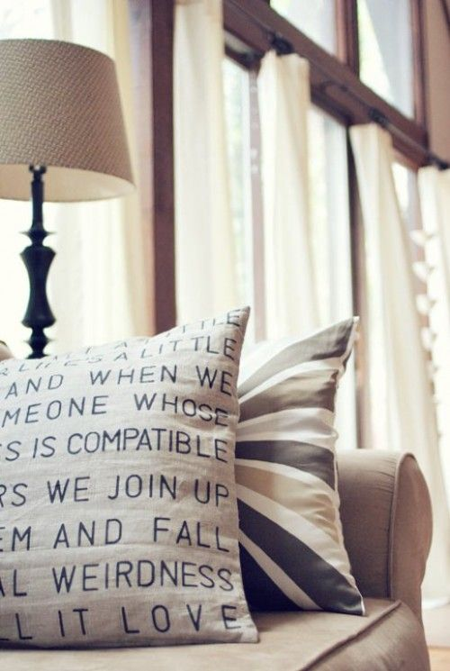 Personalised Cushion Project - lovely!Pillows Covers, Dollar Stores, Quote, Songs Lyrics, Stencils Pillows, Throw Pillows, Diy Projects, Diy Pillows, Crafts