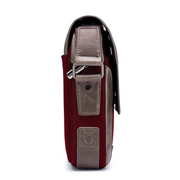 450949e1c BULLCAPTAIN Men Genuine Leather Bag Patchwork Cowhide Crossbody Bag is worth  buying - NewChic