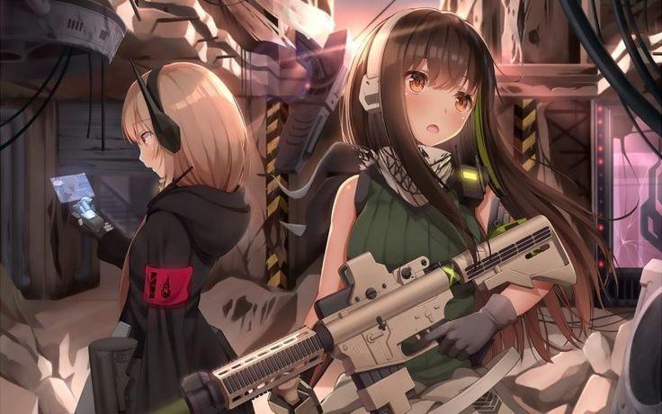 Anime girls gun long hair girls frontline  Anime g #Anime #frontline #Girls #gun…