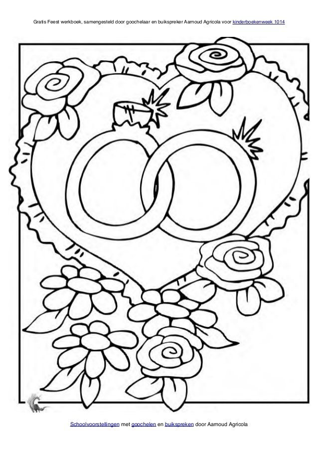 74 best Kleurplaten bruiloft images on Pinterest | Colouring pages ...