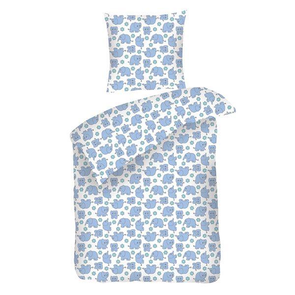Baby sengetøj - Sove Trine blå - 70x100 cm - Køb hos TekstilLaden.dk