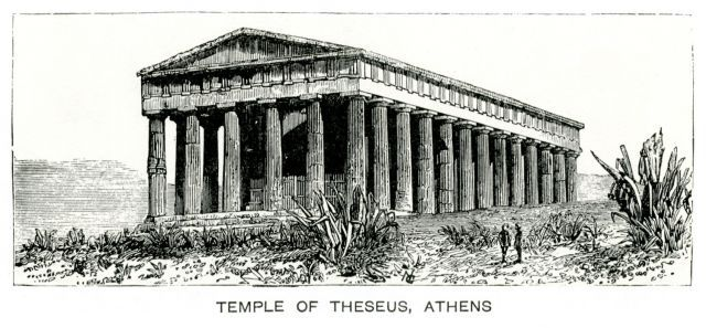 Temple of Hephaestus at Theseion, Athens. - Λεύκωμα 1842 – 1885 - TRAVELLERS' VIEWS - Places – Monuments – People Southeastern Europe – Eastern Mediterranean – Greece – Asia Minor – Southern Italy, 15th -20th century