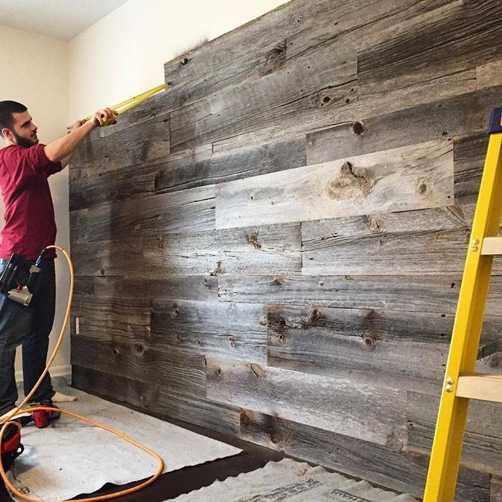 Behind the scenes with this beauty of a feature wall!