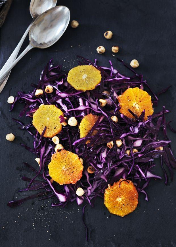 Rødkål - Rødkålssalat med appelsin