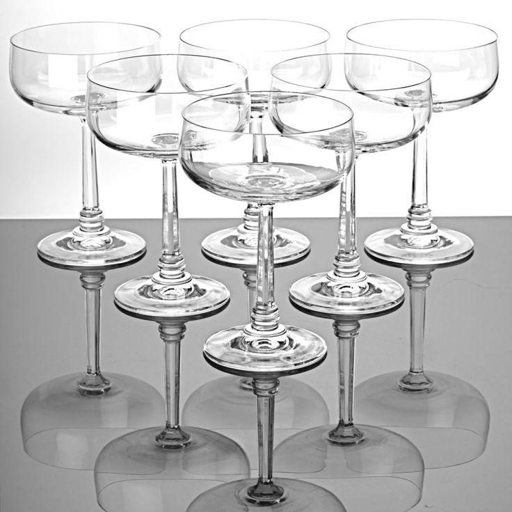 6 Sektschalen Champagnerschalen Sektgläser Kristall Gläser Dessertgläser