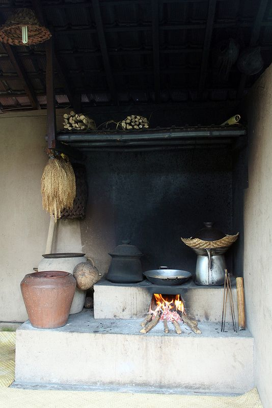 traditional kitchen - paon #Bali #Indonesia #kitchens