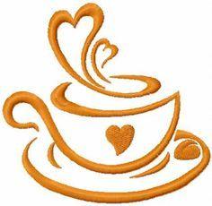 Like coffee free embroidery design. Machine embroidery design. www.embroideres.com