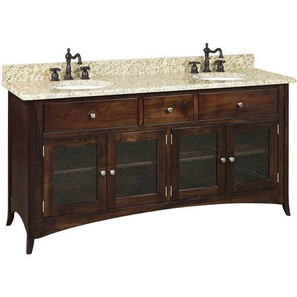 Amish 72 Santa Barbara Double Bathroom Vanity Cabinet 93795 RUB Liked On