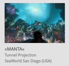 Tunnel Projection, 'Manta' Rollercoaster, SeaWorld San Diego, USA