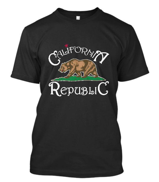 >> Click to Buy << GILDAN New California T-Shirt California Republic State Bear Flag California Tee O Neck Short Sleeves Boy Cotton Men #Affiliate