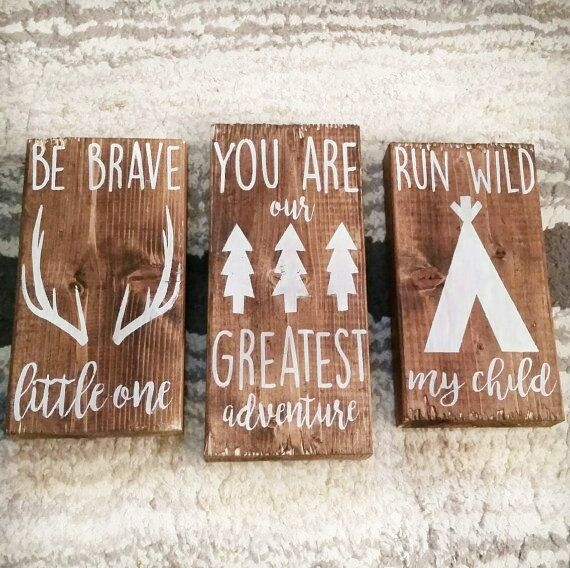 Woodland Theme Nursery Decor/You Are Our Greatest by PiecesnLove