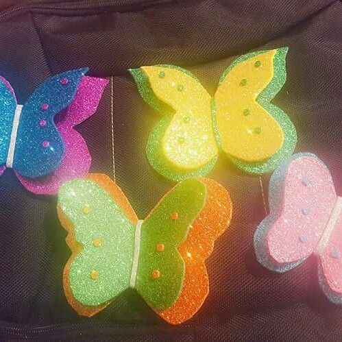 Diy Foam Sheet Butterflys To Learn This And Other Crafts Plz Visit