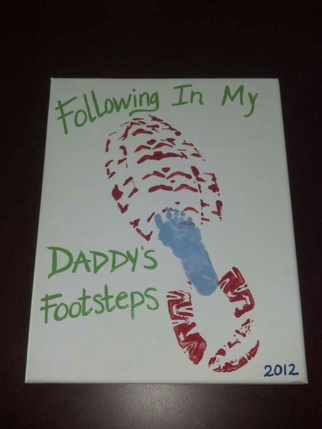 Fallow in daddy's foot print, fathers day  baby gift idea
