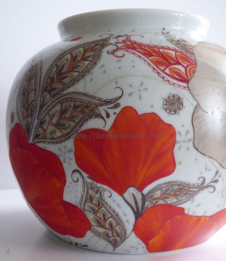 atelier porcelaine vase coquelicot passion boutique
