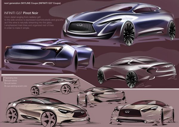INFINITI G37 Coupe Next generation_2012 by Kyusik Moon, via Behance