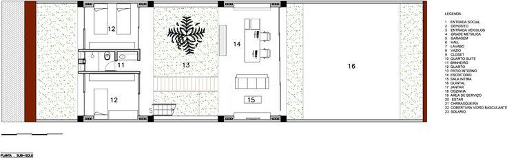Planta Subsolo - Galeria - Residência M