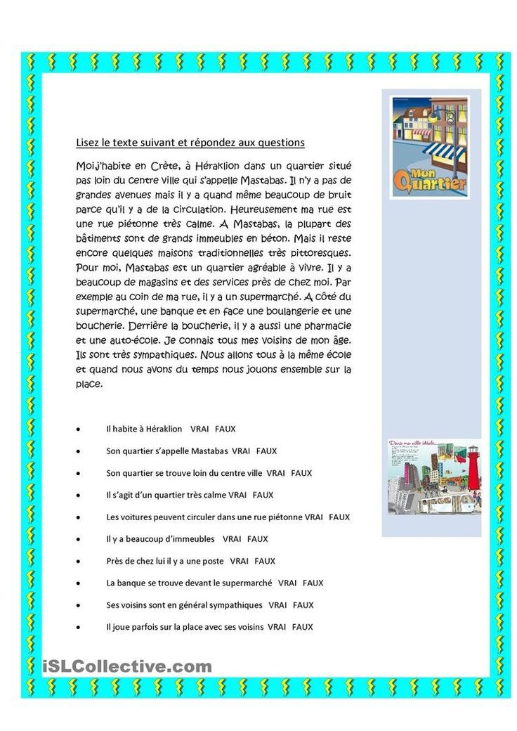 146 best FLE: Compréhension écrite images on Pinterest   French lessons, Languages and French ...