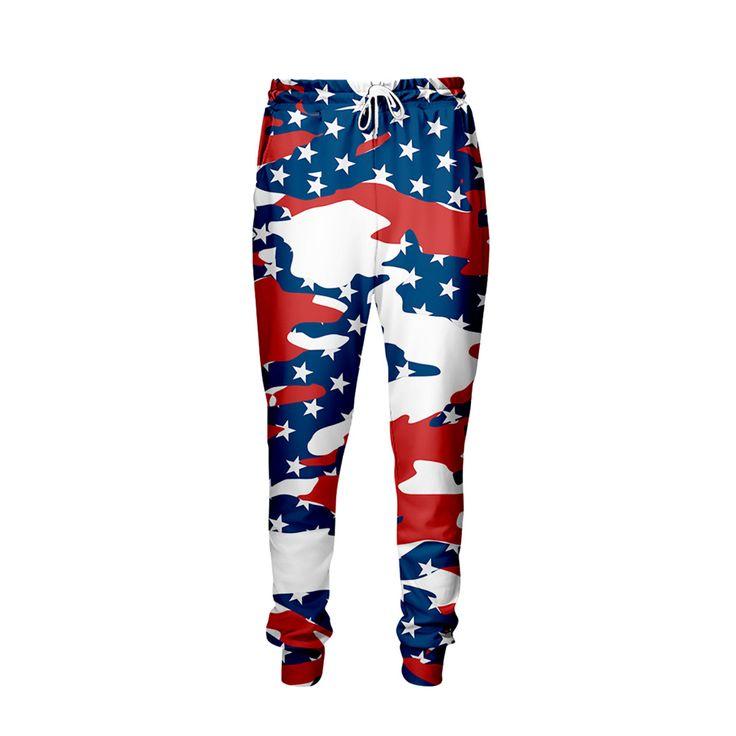 USA Camo Jogger Pants