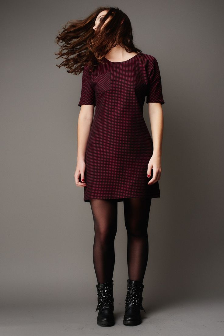 """Arum Dress: shift dress with back princess seams, which might help with the swayback """"shelf"""" situation"""