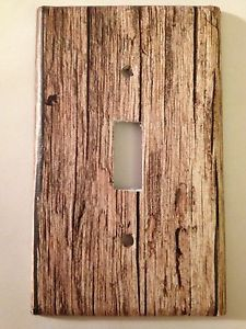 Rustic Wood Light Switch Covers Home Decor Outlet | eBay