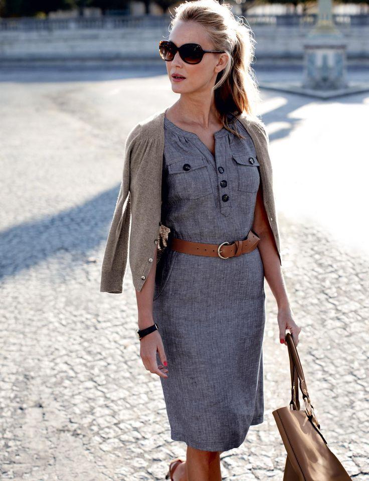 Ideal Grey Work Dresses