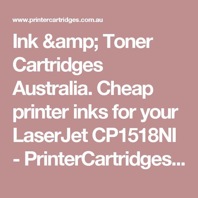Ink & Toner Cartridges Australia. Cheap printer inks for your LaserJet CP1518NI  - PrinterCartridges.com.au