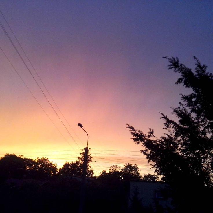 """""""#sunset #colorfull #beautifylday #zyrardow #poland"""""""