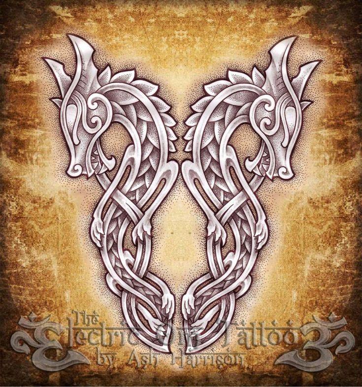 Celtic Knotwork Dragons by Ash-Harrison www.stella-stroy-dv.ru