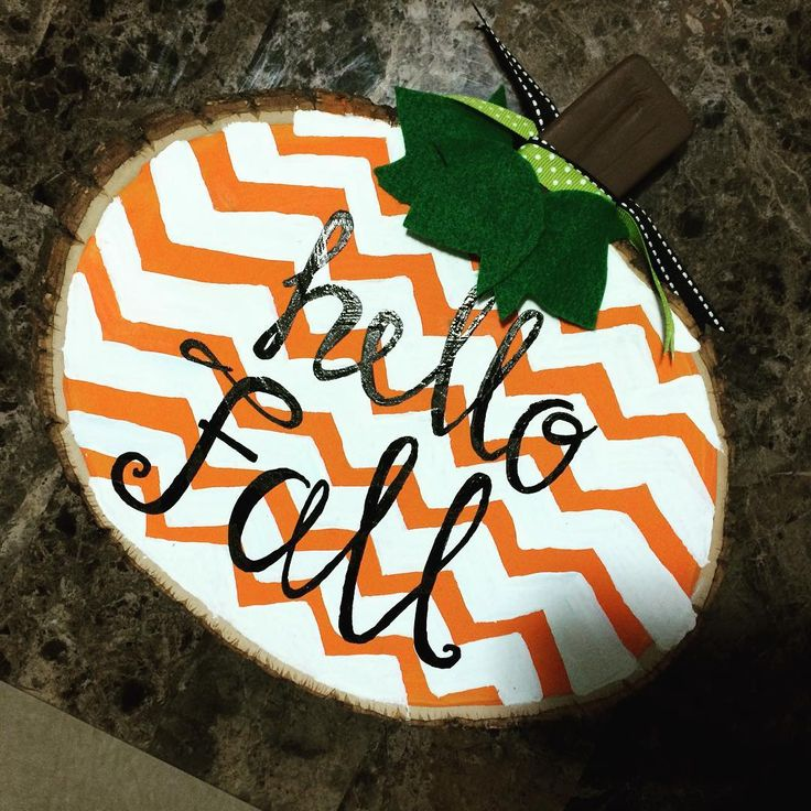 Chevron 'Hello Fall' Pumpkin #handmadehostessky #etsy #crafts #fall #hellofall #chevron #pumpkin